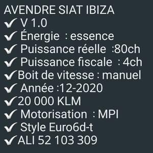 Ben-Arous-voitures-Seat-(Ibiza)-2019-Manuelle-Essence