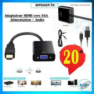 Tunis-informatique_et_multimedia-ADAPTATEUR-HDMI-TO-VGA